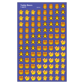 Trend Enterprises T-46073 Supershapes Stickers Teddy Bears, Price/EA