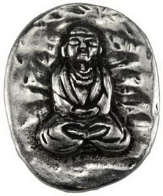 AzureGreen Buddha pocket stone