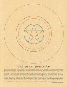 AzureGreen Talisman Pentacle poster