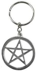AzureGreen Pentagram key ring