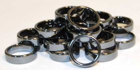AzureGreen 6mm Flat Hematite Rings (20/bag)