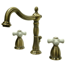 Elements of Design EB1973PX Two Handle 8&quot; to 16&quot; Widespread Bathroom Faucet with Retail Pop-up, Vintage Brass