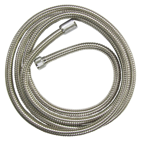 "Kingston Brass H696CRI 96"" Stainless Steel Hose, Chrome"