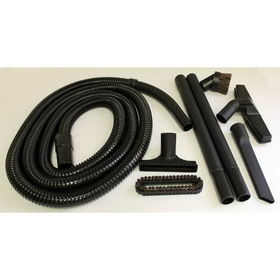 Fitall RELVSFH8W/12EHC Attachment Set, Dlx 8 Pc W/12' Hose Sharp End Blk