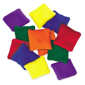 "Everrich EVC-0024 Fleece Square Beanbags - 4"" * 4"" - set of 6 colors, Price/set"
