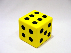 "Everrich EVM-0016 Foam Dice W/dots-- 6"", Price/piece"