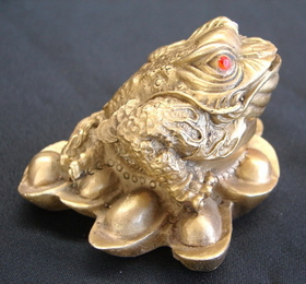 Feng Shui Import Brass Money Frog - 2840
