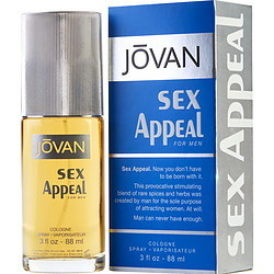 Jovan Sex Appeal By Jovan - Cologne Spray 3 Oz For Men