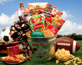 Tailgate Party Time Gift Pail, Gift Basket