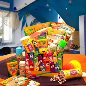 Crayola Kids Gift Box, Gift Basket
