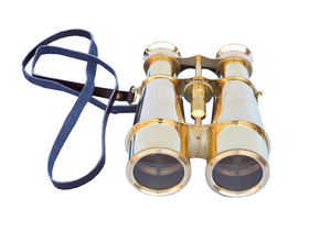 Handcrafted Model Ships Captain's Solid Brass Binoculars 6&quot;