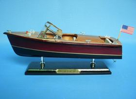 Handcrafted Model Ships Chris Craft Triple Cockpit 14""
