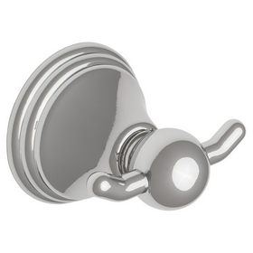 Harney Hardware 15702 Double Robe Hook, Alexandria Bath Collection, Bright Chrome, Price/each