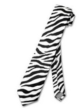 TopTie Unisex Zebra Animal Print Skinny Necktie Tie