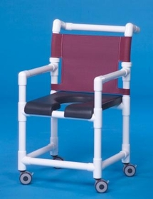 IPU Dlx Shower Chair W/Open Front Seat