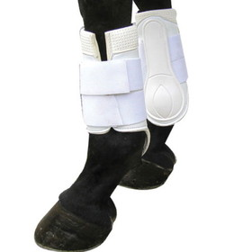 Boot Galloping Pvc Med Blk Dbl Hook/Loop