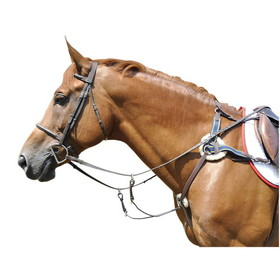 Breastplate 5-Point Adj Dk Hav W/Blu Elas & Fleece Full