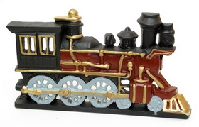 IWGAC 0170-14602 Cast Iron Painted Train Engine Doorstop
