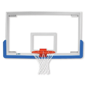 "Jaypro 48"" Rectangular Glass Backboard, Price/each"