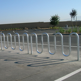 Jaypro Perm Glvnzd Wave Bike Rack - 7 Capacity, Price/each