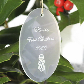 JDS Personalized Oval Christmas Ornament
