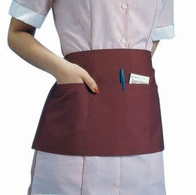 "Waist Apron, 23"" X 11"", Poly/Cotton, Triple Pocket, Black, 30951, Price/EA"