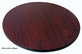 "Johnson-Rose Table Top, Reversible (Mahogany/Black), 30 Round, 1"" Thick , Price/EA"