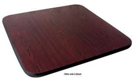 Johnson-Rose Table Top, Reversible (Mahogany/Black), 30 X 30&quot;, 1&quot; Thick , Price/EA