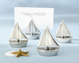 "Kate Aspen ""Shining Sails"" Silver Place Card Holders (Set of 4)"