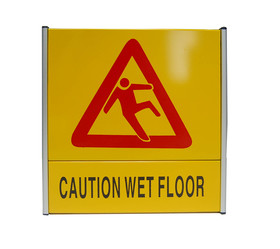 "(Price / EA) Warning Sign Caution Wet Floor Sign, Yellow, 8.5"" x 8.5"", Aluminum Sign"