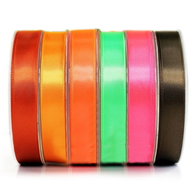 "3/8"" by 100 Yards Single Face Satin Ribbon - Black"