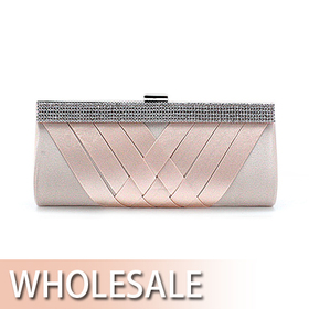 Cross Design Satin Evening Clutch - Wholesale