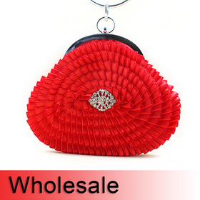 Circle Handle Spin Style Flower Design Purse - Wholesale