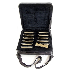 Blues Bayou 12 Piece Harmonica Set with Case, BBH12PAK