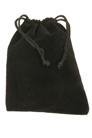 Mid-East Velvet Bag with draw string, Black