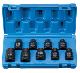 "Grey Pneumatic 1319ET Skt 1/2""Dr Ext Torx Imp Skt 9Pc Set, Price/SET"