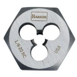 Hanson 9423 1/4-28 Nf Die-1 Hex Cd, Price/EACH