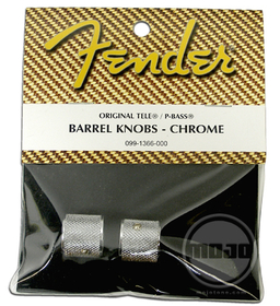 Fender P-Bass/Tele Knob Chrome Guitar Knobs / 2