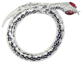 Morris Costumes BB-191SV Bracelet Snake Silver