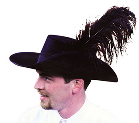 Morris Costumes GA-03SM Cavalier Hat Quality Small