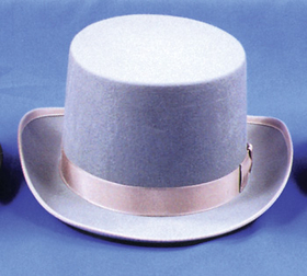 Morris Costumes GA-04GYXL Top Hat Felt Qual Grey Xlrg