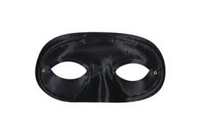Morris Costumes TI-60BK Half Domino Mask Black