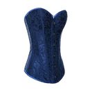 Muka Women's Navy Blue Flower Tapestry Brocade Fashion Corset, Gift Idea