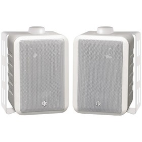 BIC RTR RTRV44-2W Indoor/Outdoor 3-Way Speakers (White)