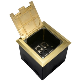 Dayton Audio FB6XG Deep Floor Box with 6 XLR Brass 6&quot; x 6&quot;