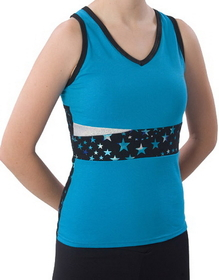 Pizzazz Superstar Panel Top w/ Keyhole Back, Adult