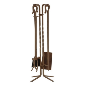 "5831RU 5 Piece 28"" Rust Wrought Iron Tool Set, Price/Set"