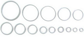 "18G Up To 1"" Spare Clear O-Rings Qty. 100"