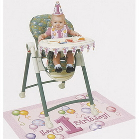 FIRST BIRTHDAY GIRL HIGH CHAIR KIT