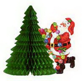 SANTA & TREE CENTERPIECE (11IN.) *